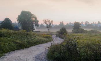 В рассветный туман / Дорога в дачный поселок.