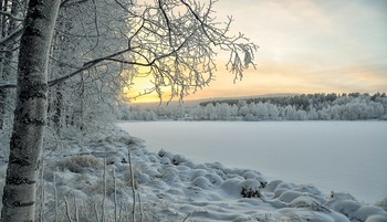 Зимний закат ... / Мороз и солнце...