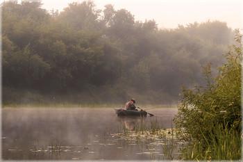не клюёт / Вот и уходит лето... Еще одно фото сделаное минувшим летом ранним утром на реке.