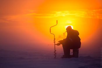 Особенности русской рыбалки в зимний период / Валдайское озеро, -25