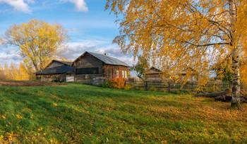 Гуляла осень по деревне / д.Клепиковы, Котельничский р-он.