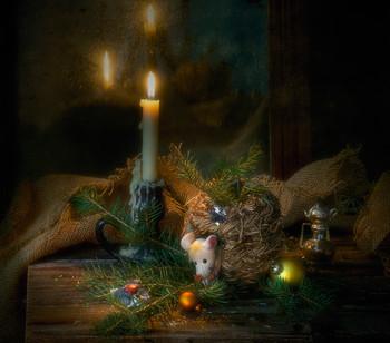 Зимняя сказка о белой мышке :)) / ...