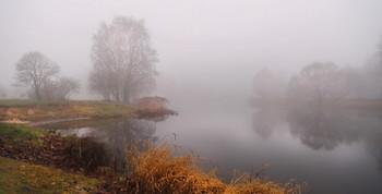 Пасмурное утро / Туман на реке