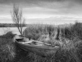Пейзаж с лодкой / ***