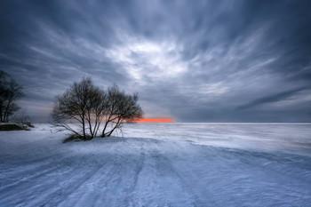 Зима на заливе. / ***