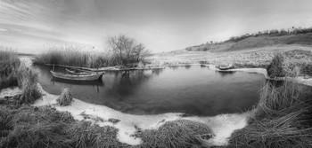 На зимнем берегу / Зимняя панорама