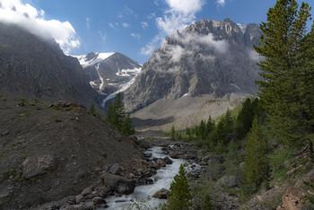 Верховья реки Актру / Горый Алтай. Ледник Большой Актру