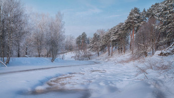 / зима,река,Клязьма