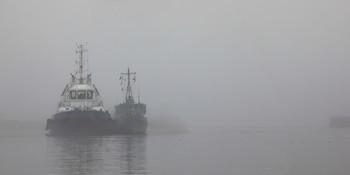 Туманный рейд / Кронштадт. Купеческая гавань. Туман