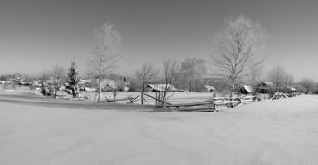 Зимняя околица / Старинное село Сырьяны