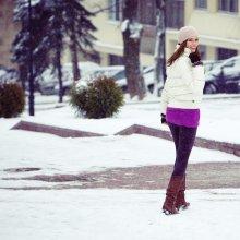 Здравствуй,Зима! С первым декабря! / .а представьте что на улице - вот такая погода.   На фото - любимая Таня Ринейская.