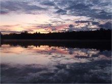 Сказочный закат / Летний закат на моём любимом озере