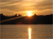 Золотой закат / В моём любимом месте, на моём любимом озере