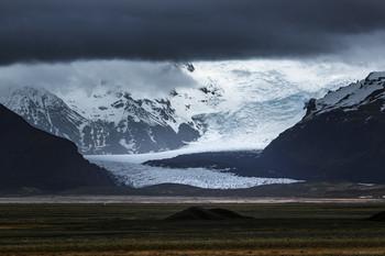 Языки древнего Ватнайокудля / Ватнайокудль - крупнейший ледник Исландии и Европы