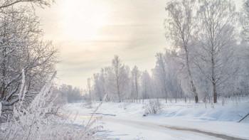 Двадцать девятое февраля / река,зима, снег