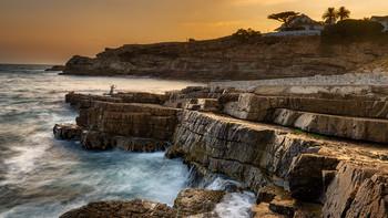 Вечерний рыбак / Побережье Атлантики. Херманус, Южная Африка