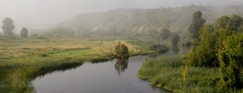 Туманный Айдар / панорама,утро,туман
