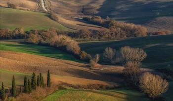 Тосканский этюд / Осенняя зарисовка долины Валь д ' Орча.