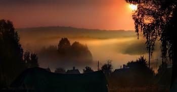 Нежданный рассвет спозаранку / Случайно снят, встал рано утром опохмелиться с туманного бодунища.  А кто не курит и не пьёт  быстро в здравии помрёт :)