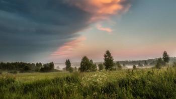 / лето,туман,смена погоды,заря