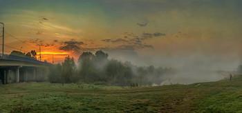 Про то , как утренняя заря, туман с речки прогоняла... / из осенних воспоминаний...