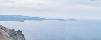 Острова любви... / Я вспомнил берега в тревожной дымке... Вечереет...Слева остался Коктебель, чуть правее Хамелеон, далее Орджоникидзе...