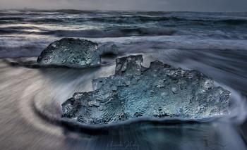 Тающий закат / Алмазный пляж, Исландия