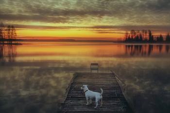 ..встречая рассвет.. / озеро Шлино