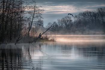 Удочка в кустах / Апрельское утро на шатурских озерах.