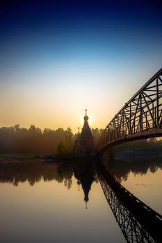 Утро / Церковь Андрея Первозванного на Вуоксе