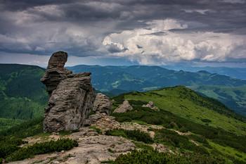 Ушастый камень / Вид на долину при подъеме на Черногорский хребет (Карпаты). 21 июня 2019 г.  Еще несколько фото этого дня:  [img]https://i.imgur.com/3WYfjUd.jpg[/img]  [img]https://i.imgur.com/W9RQD7l.jpg[/img]