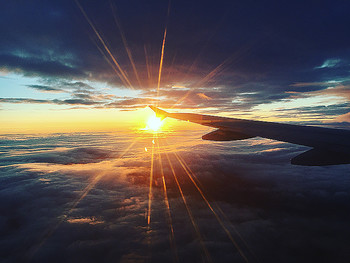 Fly / закат в полете