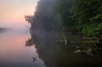 Про зорьку на реке / Пейзаж Беларуси