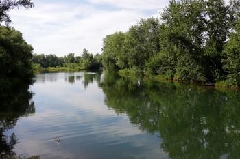 Дрена в Абакане / Искусственный канал вокруг города, для осушения территории городской земли.