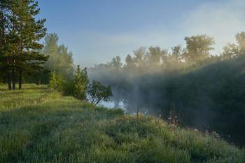 / река,туман,рассвет