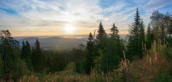Утренняя панорама / Утро в горах