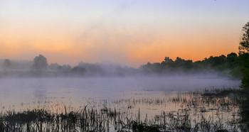 Пробуждение. / Озеро Исток на рассвете. Мещера, юго-восток Московской области.