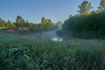 / река,рассвет,туман