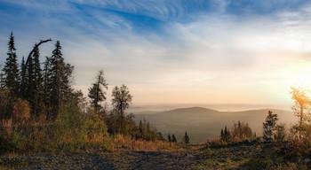 Туманное утро / Уральский пейзаж