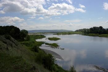 Протока Енисея / Протока Енисея в Минусинском районе.