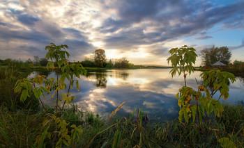 Вечер на озере / Осень на Урале