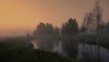Вечерний свет озарился в тумане / Вечерний свет озарился в тумане