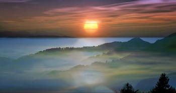 На рассвете... / туман в сопках