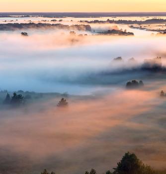 В пелене тумана / Над Клязьмой туман