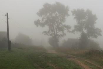 """""""Туман заполнил все пространство ..."""" / """"Туман заполнил все пространство,  Облил дорогу молоком.  И в неестественном убранстве  Стоят деревья за окном ..."""""""