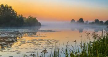 На рассвете. / Утренний пейзаж на озере Сосновое.