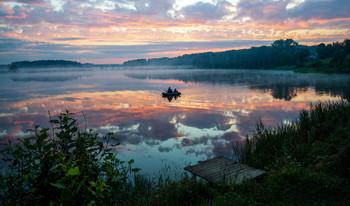 утро на озере / ...