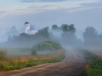 Туманы в Завертной / Ранее утро в деревне Завертная.