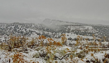 первый снег / г. Дюранго, Колорадо, США