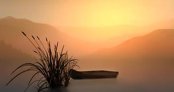 Рассвет... / над озером